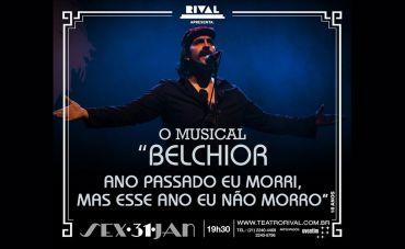 O Musical 'Belchior: Ano Passado Eu Morri, Mas Esse Ano Eu Não Morro' volta ao Teatro Rival