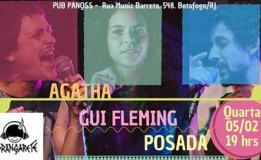 [Noite Porangareté] Posada, Agatha e Gui Fleming no PUB Panqss!