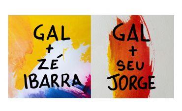 Duetos inéditos de Gal Costa com Seu Jorge e Zé Ibarra ganham as plataformas digitais