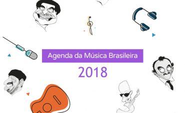 Agenda da Música Brasileira 2018 terá lançamento em Niterói