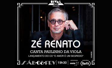 Zé Renato canta Paulinho da Viola no Teatro Rival