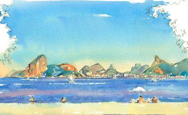 Crônica de uma aquarela carioca