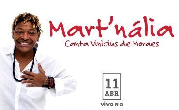 Mart'nália canta Vinicius de Moraes no Vivo Rio