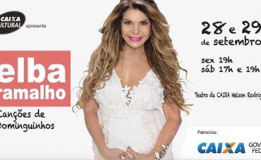 Elba Ramalho canta Dominguinhos no Teatro da Caixa Nelson Rodrigues