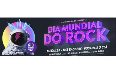 Medulla, Posada e The Baggios no dia do rock