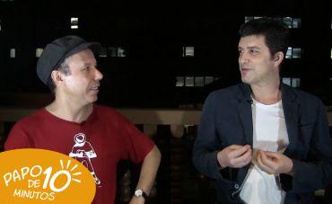 Com o produtor Leo Feijó