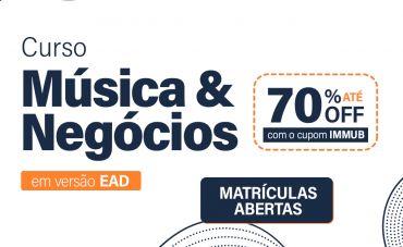 Garanta o cupom do IMMuB para as novas turmas do curso Música & Negócios