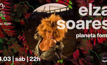 Elza Soares apresenta o disco 'Planeta Fome' na Casa Natura Musical