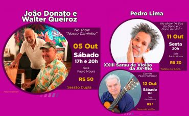 Confira a programação de OUTUBRO do Centro da Música Carioca Artur da Távola