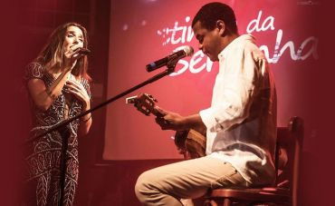 Rachell Luz canta Marisa Monte com participação de Pretinho da Serrinha no Bona